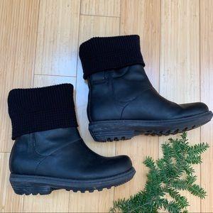 SOREL Columbia black winter boots, 6, 37.